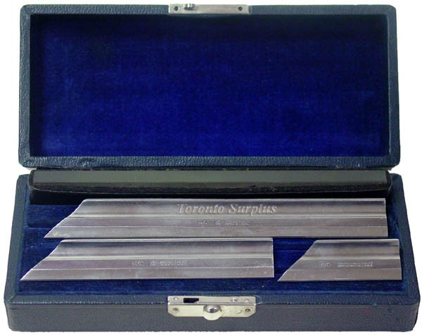 Brown & Sharpe 530 Beveled Toolmaker's Knife Straight Edge Set - SEE DESCRIPTION (In Stock) 4m