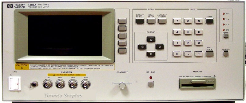 Hp Lcr Meter : Hp a agilent precision lcr meter with