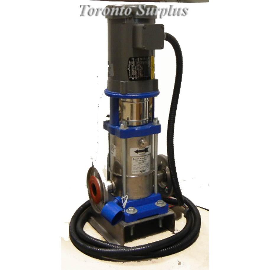 Gould g l series ssv 2svb1f6do 1 5hp 360 psi vertical Baldor industrial motor pump