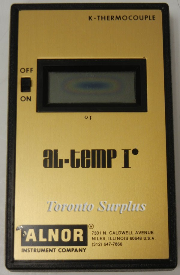 Alnor Al-temp I Temperature Meter K-Thermocouple