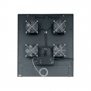 """Middle Atlantic MW-4QFT-FC 220 CFM Integrated Fan Top with (4) 4-1/2"""" Fans and Controller"""