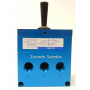Festo H-5/3-1/2 Double Pushbutton, Hand Lever, Multi Position Pneumatic Valve