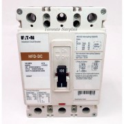 Eaton HFDDC3100WF01 Industrial Circuit Breaker 100A 600 VDC 3 Pole NOS