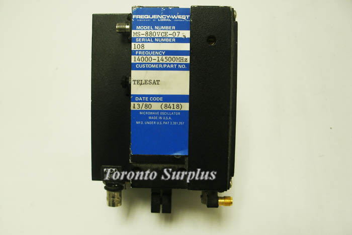 Image of Frequency-West-MS-880VCE by Toronto Surplus & Scientific