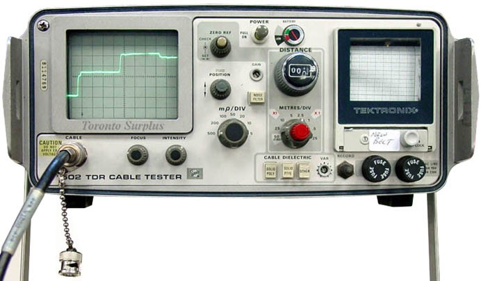 Tektronix 1502 Opt 04 Tdr Cable Tester With Printer