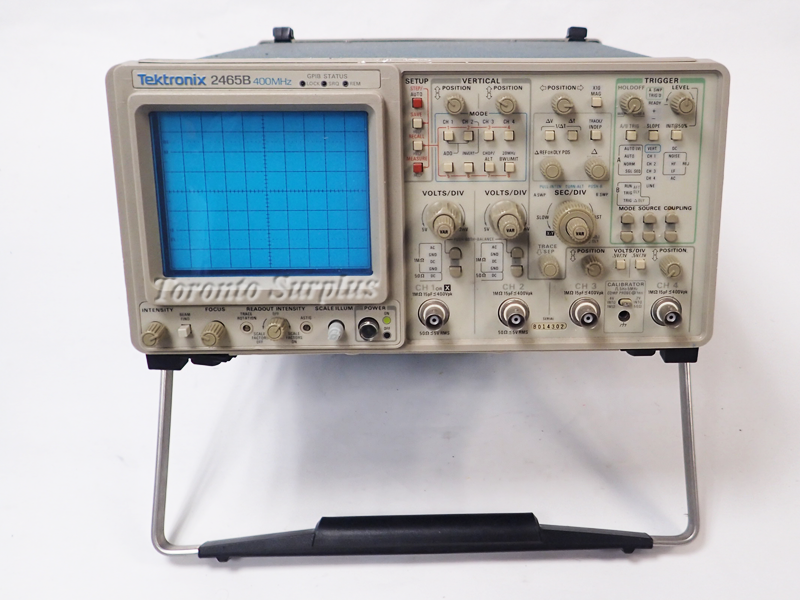 Tektronix Analog Oscilloscope : Tektronix b mhz oscilloscope channel analog