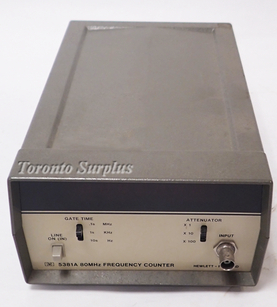 Directional Frequency Counter : Hp a agilent mhz frequency counter with