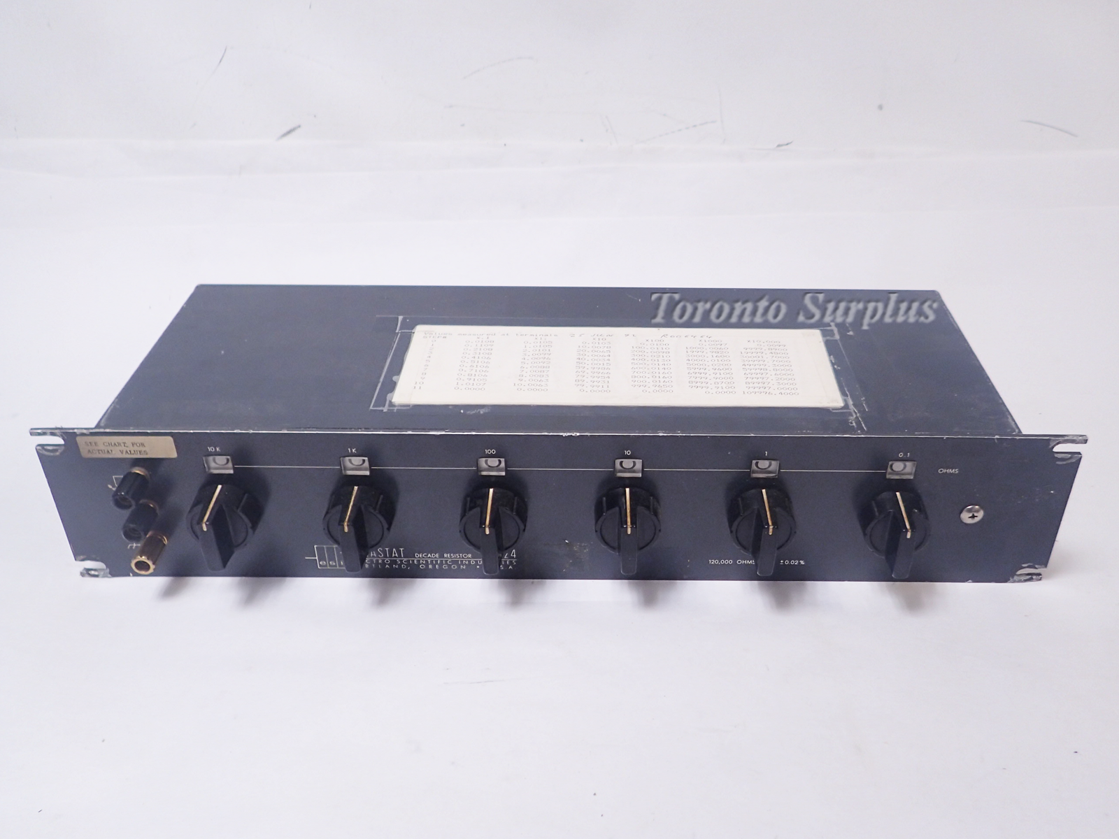 ESI RS624 Decade Resistor Box 1
