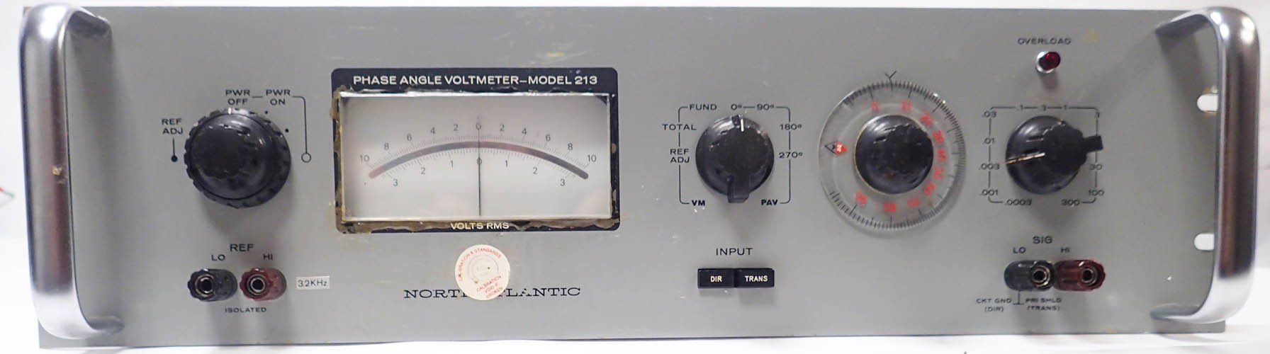 North Atlantic 213C Phase Angle Voltmeter Input Frequency range 10Hz to 100kHz