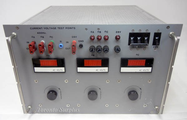 400Hz, 3 Phase, Air Craft Power Supply with Independant Phase Adjustment