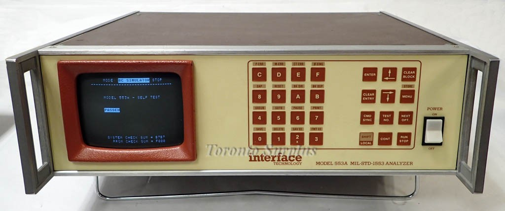 Interface Technology 553A MIL-STD-1553 Synchro / Resolver Analyzer with OPT RS-232