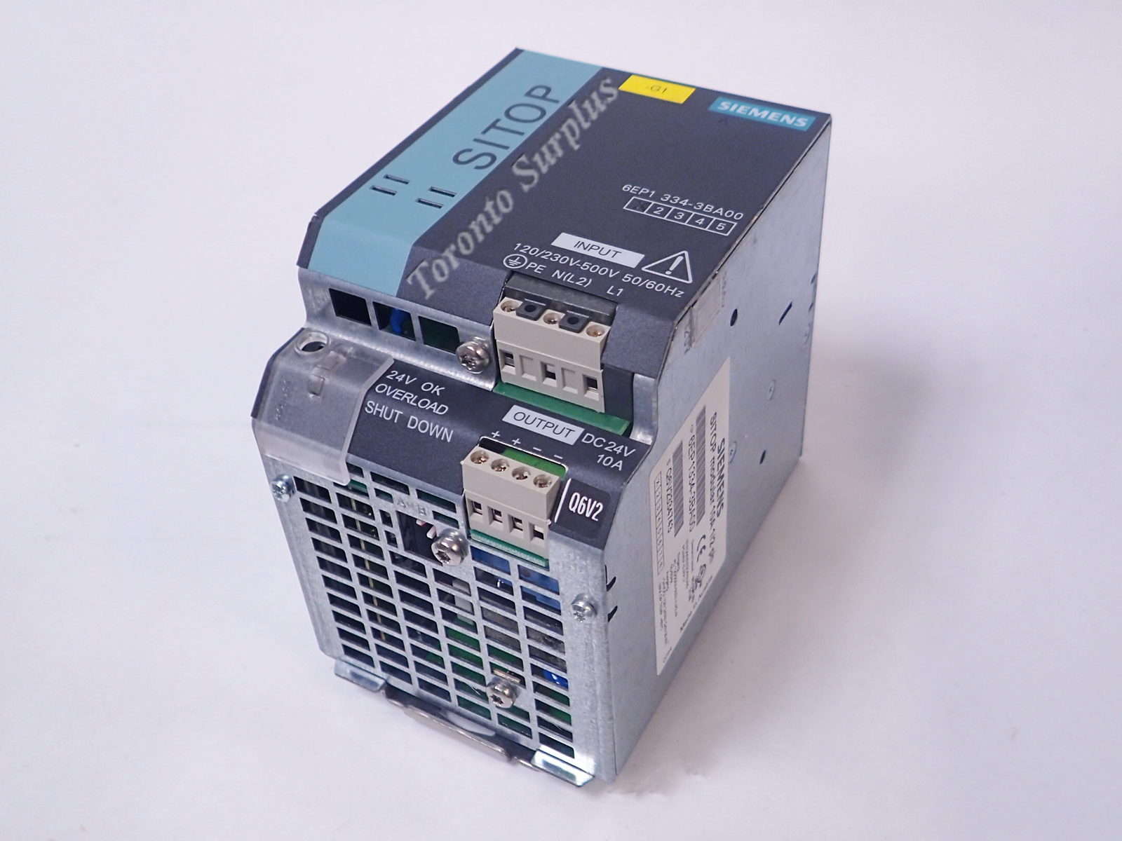 Af 24v 10a Siemens Sitop 6ep1334 3ba00 Power Supply 1 2 Ph 240w 24 Volts Ac To Dc Modular Plus 10 Stabilized Input 120 230 500