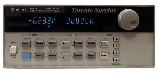 a  15V,   3A HP 66309D / Agilent 66309D Dual Mobile Communications DC Source w/ DVM 0-15 V, 0-3 A
