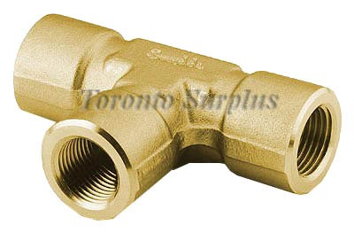 Swagelok B-8-T  Brass Pipe Fitting, Tee, 1/2 in. Female NPT