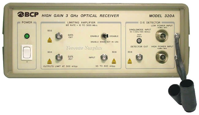 BCP Broadband Communications Products / JDSU / JDS Uniphase 320A High Gain 3 GHz Optical Receiver, Model 320A-33ST
