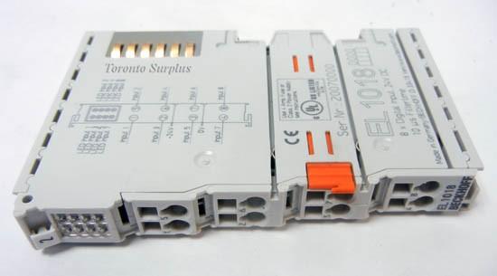 BECKHOFF EL1018 8-Kanal-Digital-Eingangsklemme 24 V DC Filter 10 µs,