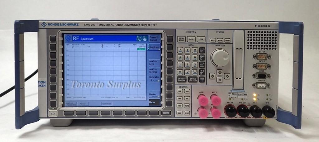 Rohde & Schwarz Cmu200 Universal Radio Communication Tester Loaded