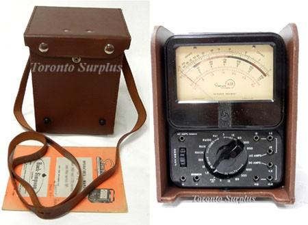 Bach-Simpson / Simpson 635 HV General Purpose High Voltage Multimeter with Case & Manual 0-6000 VAC, 0-6000 VDC, 1-20,000 Ohms - SEE DESCRIPTION