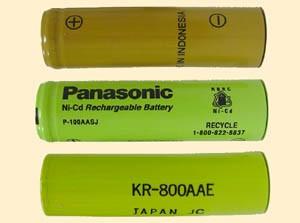 Battery NiCad Nickel Cadmium Panasonic P-80AAS/FT - AA 1.2V