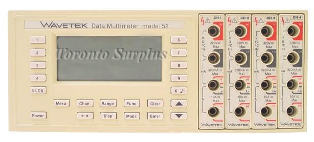 Wavetek 52 Datalogger / Multimeter Mainframe Only, Options/Modules Sold Separately