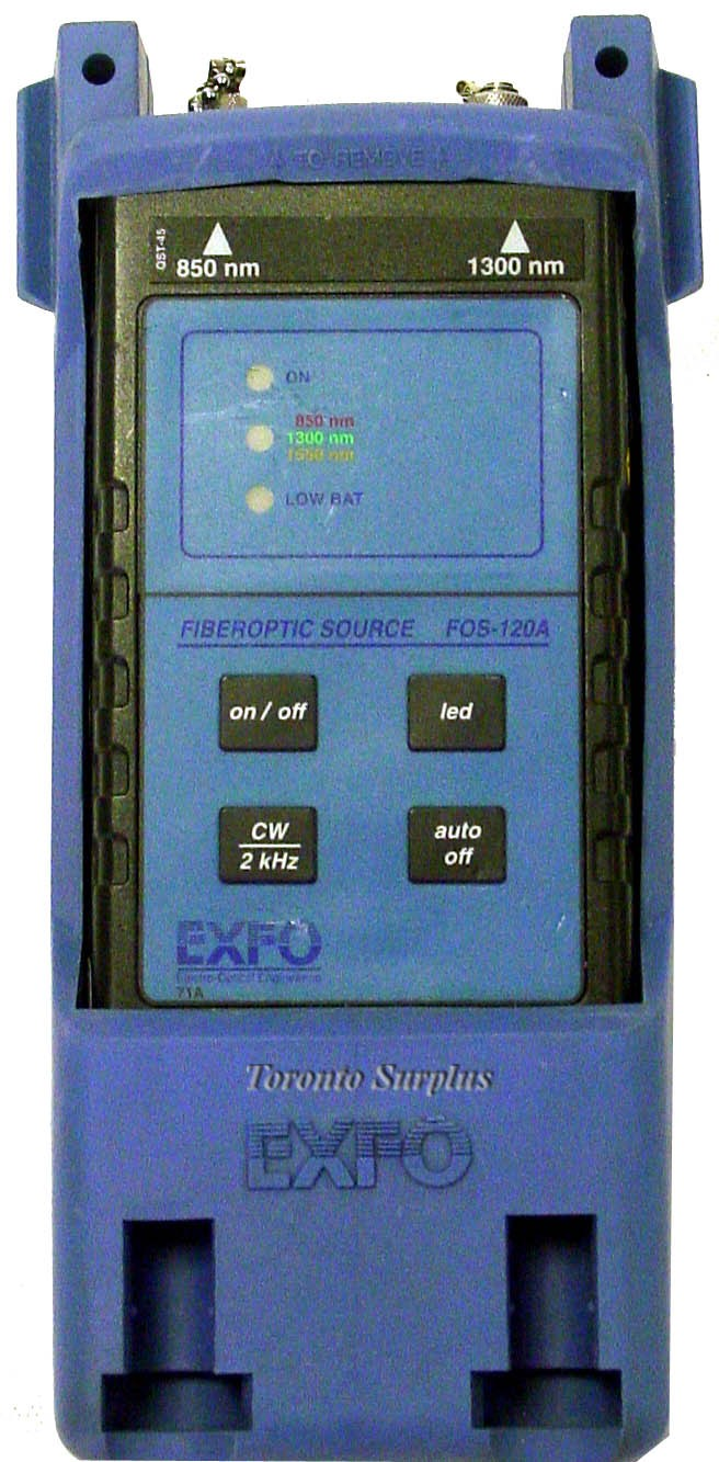 Exfo Fos-120A / Fos120A FOS-124A-74 Fiberoptic Source