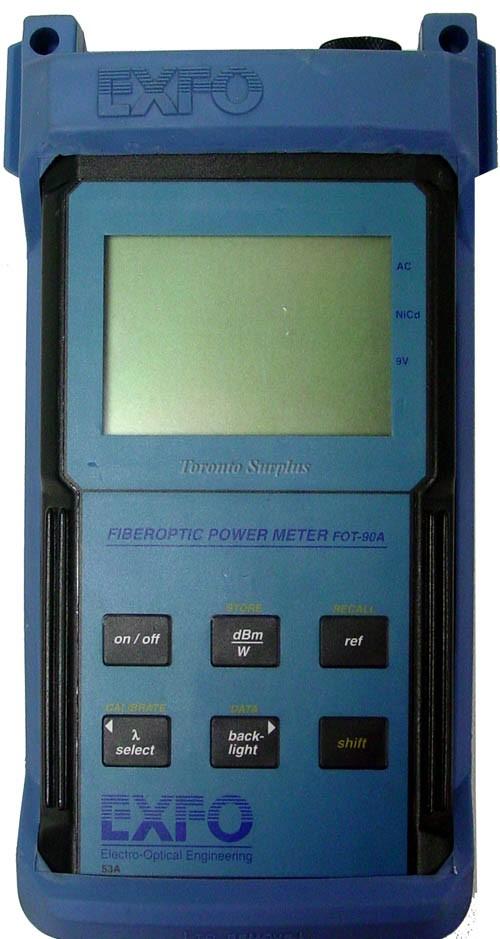 Exfo Fot-90A / Fot90A FOT-92AX Fiberoptic Power Meter