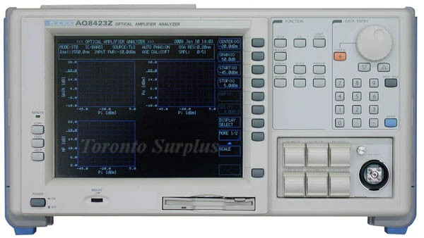 Ando AQ8423Z Optical Amplifier Analyzer with AQ9389B FC Connector Adapter