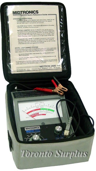 Midtronics 2600 6-12 Volt Battery Condition Tester