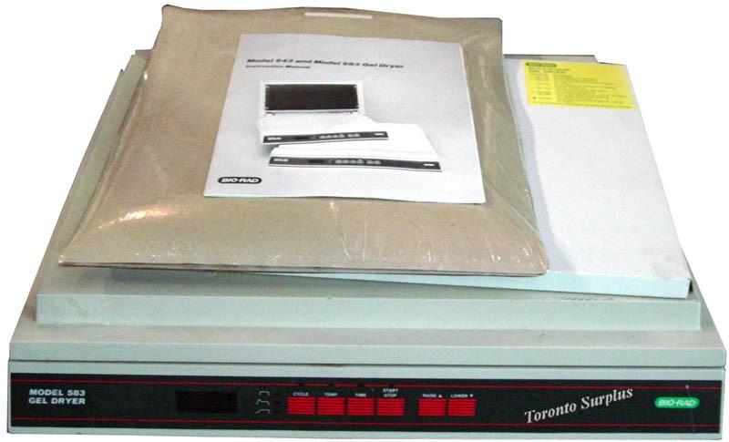 Bio-Rad 583 / 165-1745 Gel Dryer with Cellophane Membrane Backing 165-0963 & Sequencing Gel Filter Paper 165-0959