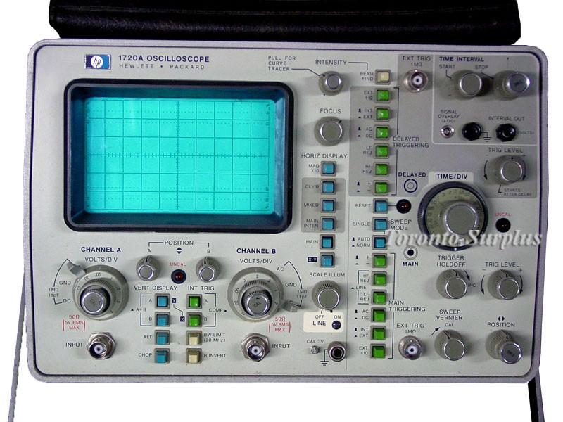 Dual Trace Oscilloscope : Hp a agilent mhz dual trace oscilloscope
