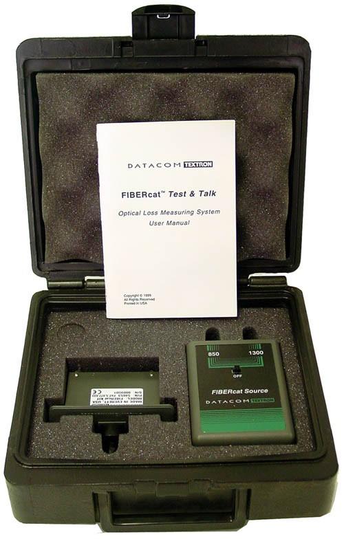 Datacom Textron 54653 FIBERcat Kit Optical Loss Measuring System