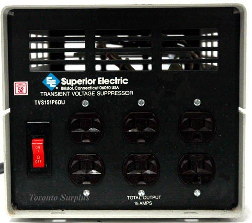 Superior Electric TVS151P6DU 6-Output Transient Voltage Supressor