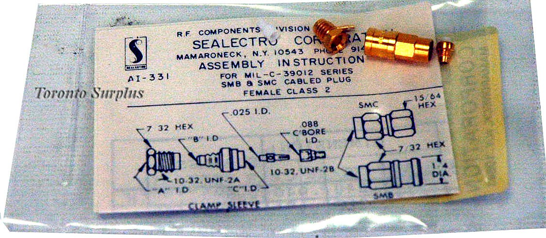 Sealectro M39012/67-0004 RF Coaxial Connector