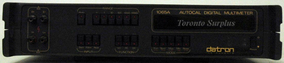 Datron 1065A 5.5 Digit Autocal Digital Multimeter with Opt 80