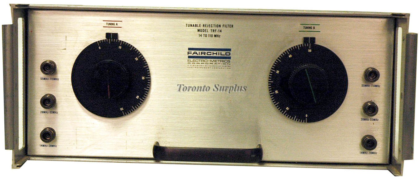 Fairchild TRF-14 / TRF14 Tunable Rejection Filter / Radio