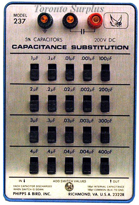 Phipps & Bird 237 Capacitance Substitution 100 pF to 11.1 µF