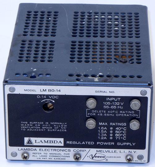 a14V Lambda , Power Supply, Linear 0-14V