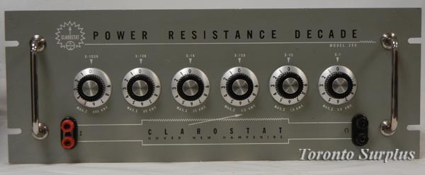 Clarostat 250 Power Resistance Decade Box, 1 to 999,999 ohms in 1 ohm increments
