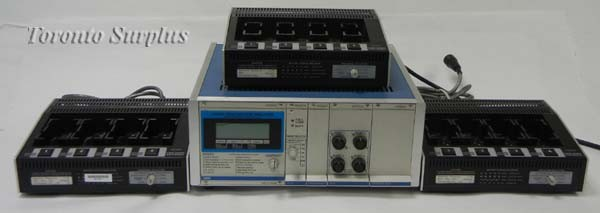 Cadex C- 6032 / C6032 / C6000 Series Battery Analyzer with (3) 4-Bay SM64-129 Charging Stations, 115V, 60Hz