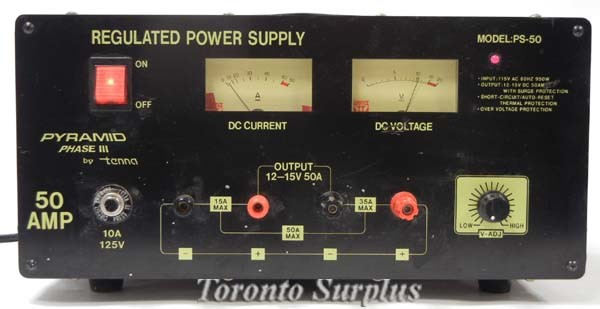 a  Tenna Pyramid Phase lll Regulated Power Supply, 0-20VDC, 50A