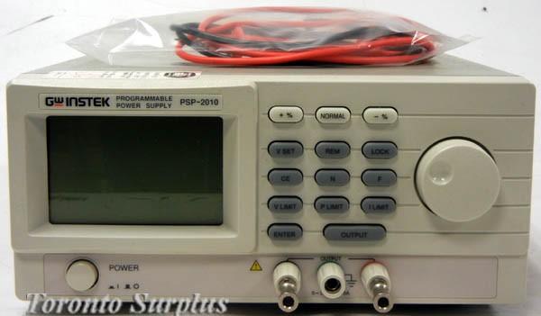 GW Instek PSP-2010 Programmable Power Supply, 0-20V, 10A,
