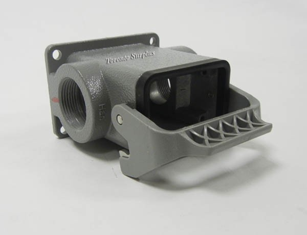 Harting 6B Han-Kit Complete Connector Bulkhead Mounted Housing with Flange Gasket