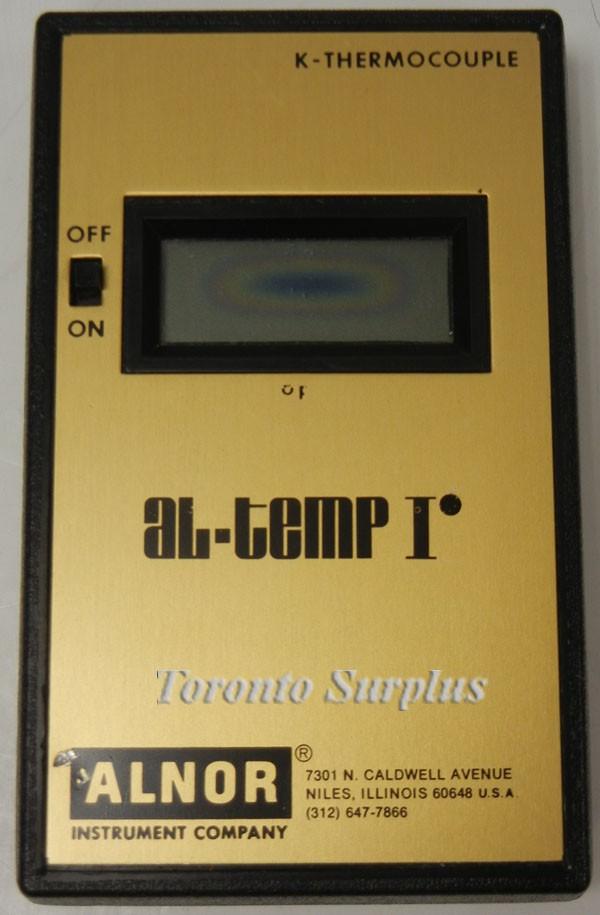 Alnor Al-temp I Temperature Meter K-Thermocouple