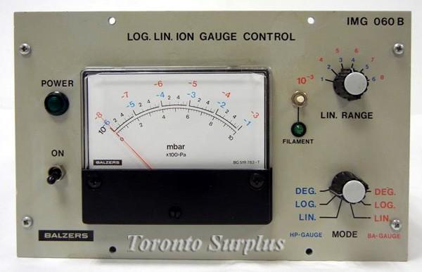 Balzers IMG 060 B Log. Lin. Ion Gauge Control