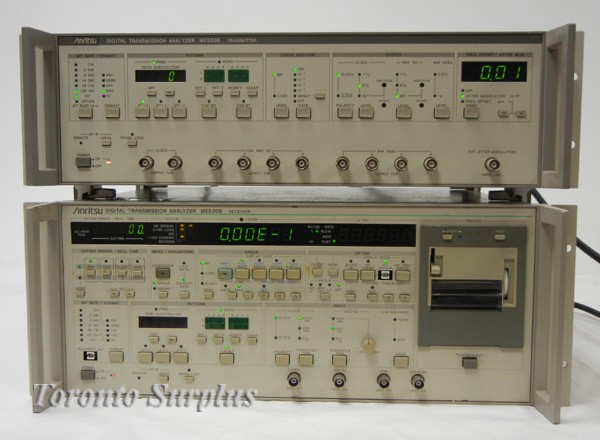 Anritsu ME520B Digital Transmission Analyzer, Tramitter and Receiver