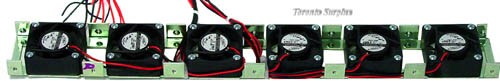 Adda AD0412HB-D50 DC Brushless 6 Fan 12V DC, 0.12A Assembly