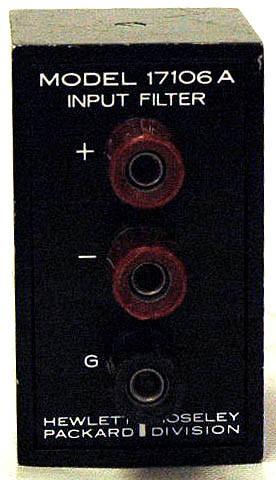HP 17106A / Agilent 17106A Input Filter