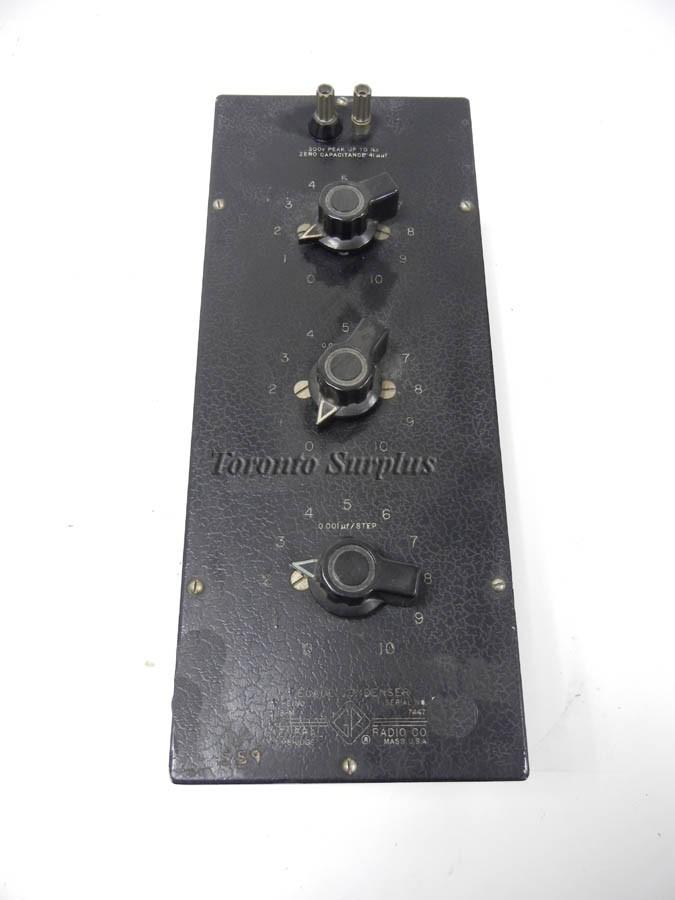 General Radio 219-M / 219M GenRad Decade Condenser