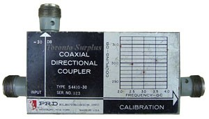 PRD Electronics S4410-30 Directional Coupler 2.0 - 4.0 GHz, -30 dB, S Band, Type N Connectors