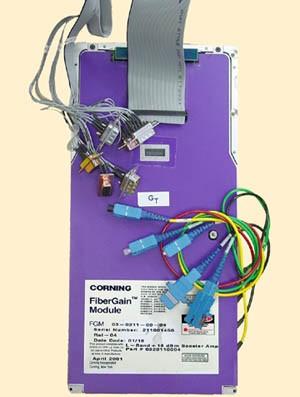 Corning FGM FiberGain Module P/N 0320110004 / 03-0211-00-04  L-Band +18 dBm Booster Amplifier Date 01/16 Rel 04